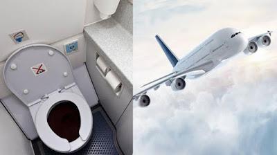 Anda Pasti Terkejut Setelah Tahu Kemana Kotoran Toilet Yang Ada Di Pesawat Dibuang? Ternyata Ini Yang Terjadi Ketika Tekan Tombol Flush