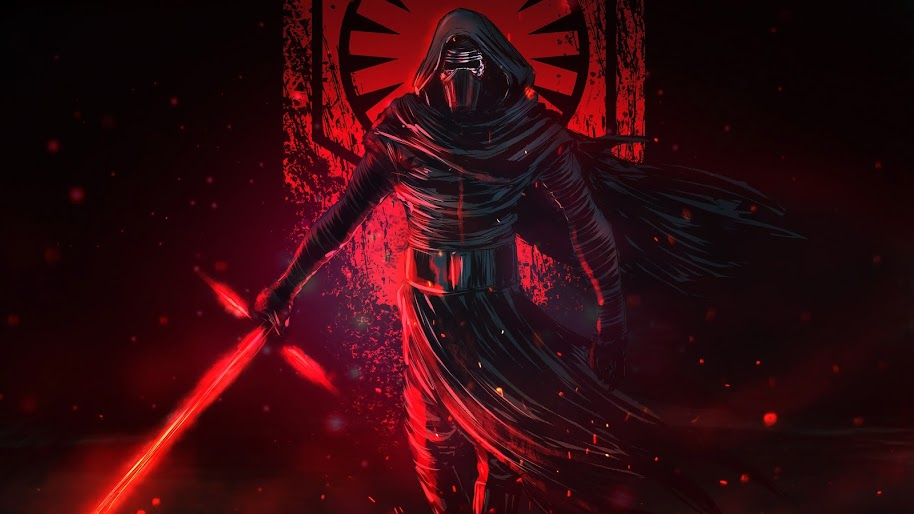 kylo ren lightsaber star wars 16 4k