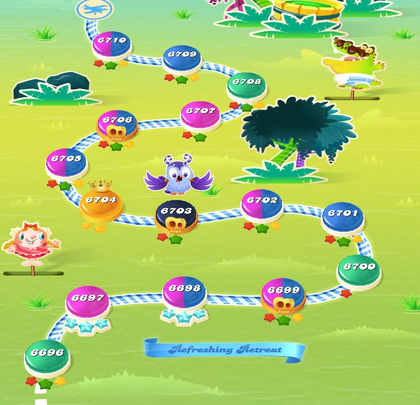 Candy Crush Saga level 6696-6710
