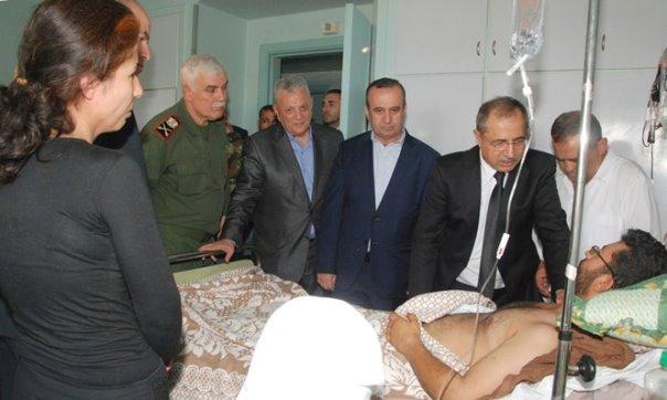 وفد وزاري قام بزيارة للسويداء للقيام بواجب التعزية بشهداء محافظة