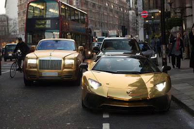 mobil mewah berlapis emas milik WNI di London