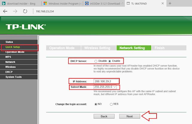 Cara Setting Access Point TP-LINK TL-WA701ND Menjadi AP