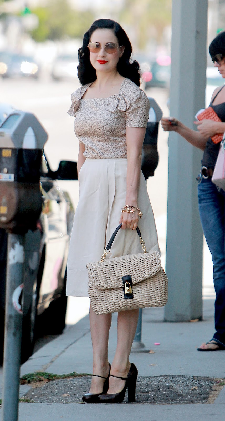 Dita Von Teese Out and About in West Hollywood