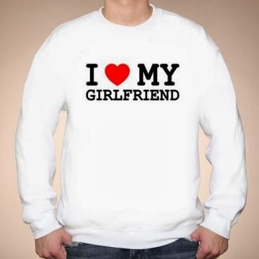 I love my girlfriend bluza biała