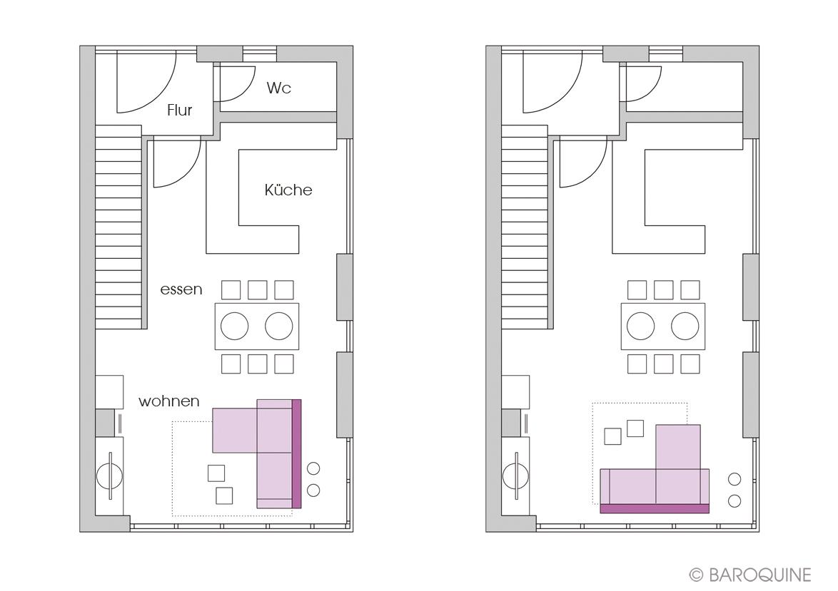 baroquine wohn und esszimmer bootshausetage 40qm. Black Bedroom Furniture Sets. Home Design Ideas