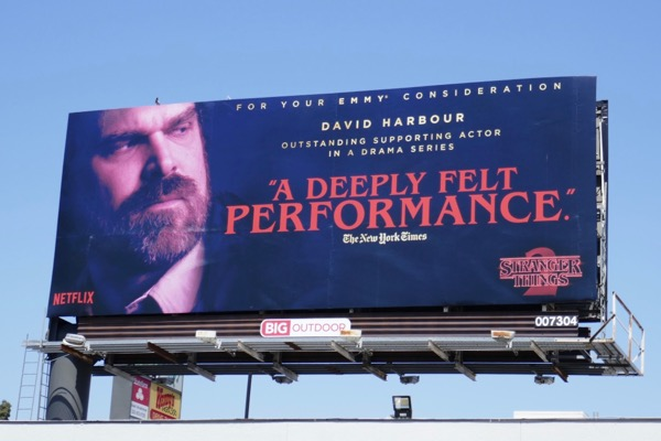 David Harbour Stranger Things 2 Emmy fyc billboard