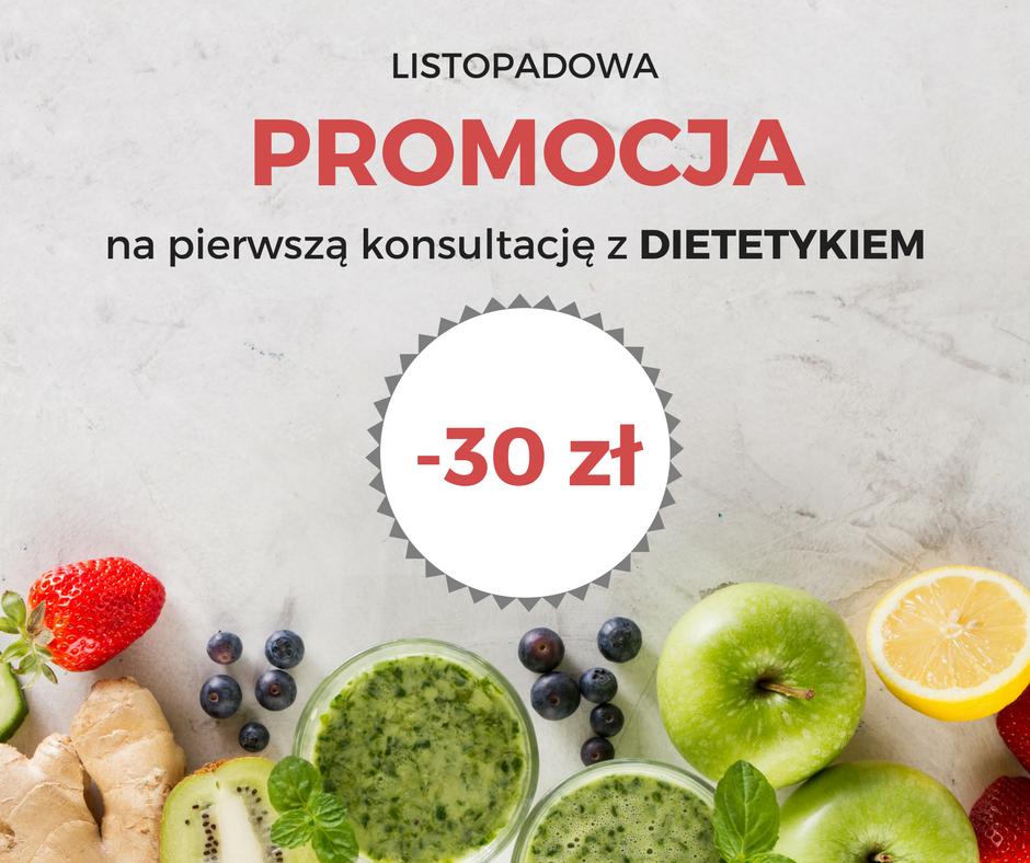 Listopadowa promocja na pierwszą konsultację z dietetykiem