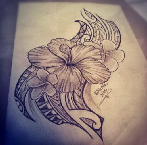 Hawaiian Hibiscus Flower Tattoo Designs: Hawaiian Tribal Tattoos Designs