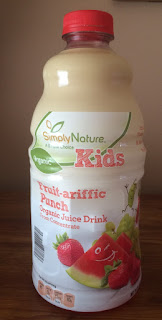 A bottle of Simply Nature Kids Fruit-ariffic Punch Organic Juice Drink, from Aldi