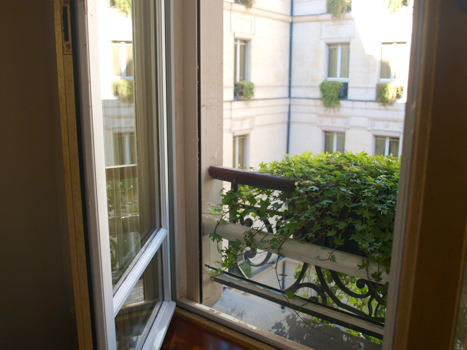 Beautiful view of courtyard in Park Hyatt Paris Vendome by Hello Lovely Studio