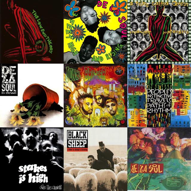 "Confira os 15 melhores álbuns do Coletivo ""Native Tongues"" (Formado por: Queen Latifah, De la Soul, A Tribe Called Quest e outros)"