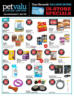 Pet valu Flyer March 12 – April 4, 2018