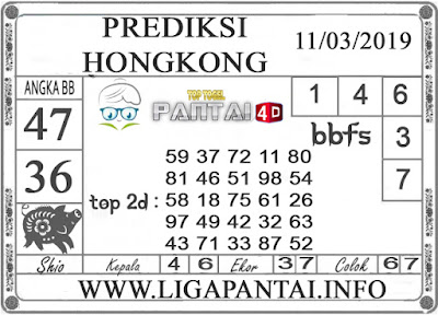 """Prediksi Togel """"HONGKONG"""" PANTAI4D 11 MARET 2019"""