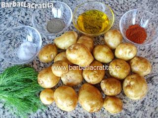 Cartofi noi la cuptor ingrediente reteta