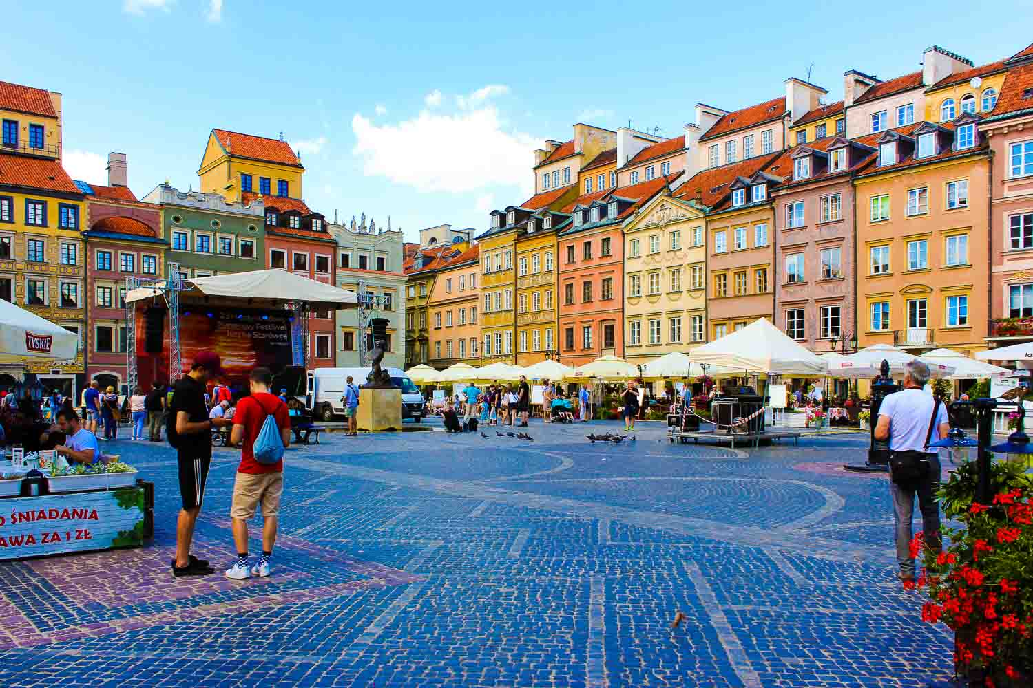 Old Town Market Square Warsaw Poland