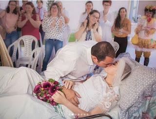Morre jovem que casou em hospital durante tratamento de câncer na Paraíba