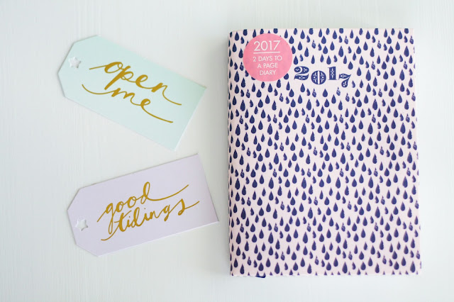 christmas gift tags, 2017 diary