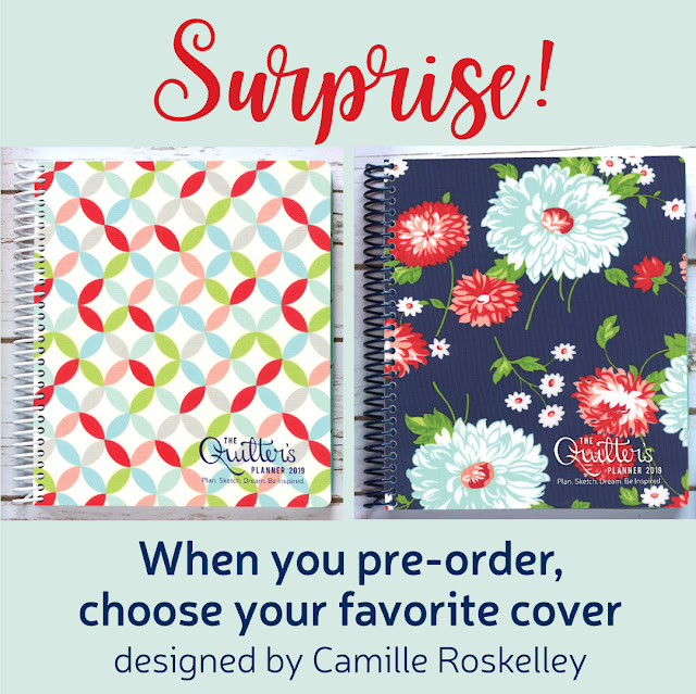 Pre-order the 2019 Quilter's Planner today and choose your cover