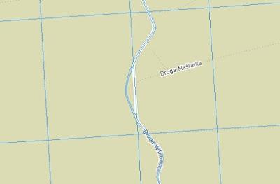 Mapa ewidencyjna drogi Nowy Wilków - Górki