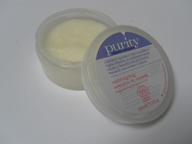 A picture of the Purity Organic Skincare Anti-Aging Serum & Mask