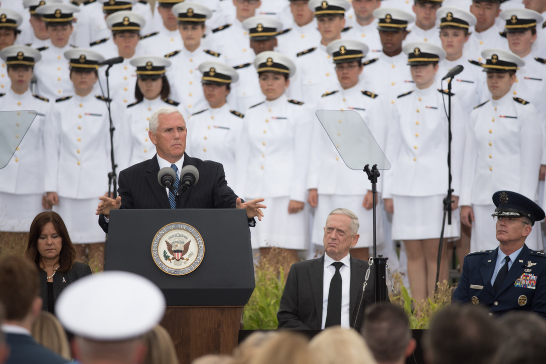 Image result for Vice President Pence, at Pentagon, Sept 11, 2018