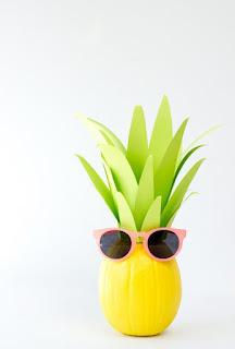 20 Idee Per Decorare Le Zucche Di Halloween Fai-da-te: ananas