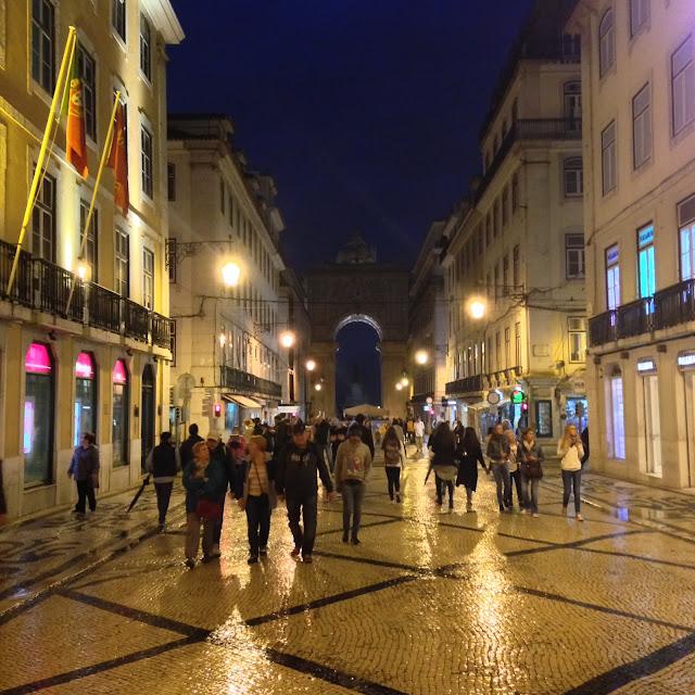 Rua Augusta at night, Lisbon