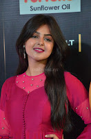 Monal Gajjar in Maroon Gown Stunning Cute Beauty at IIFA Utsavam Awards 2017 010.JPG
