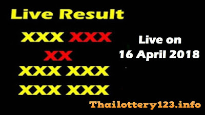 Thai Lottery 16 April 2018 Live Result