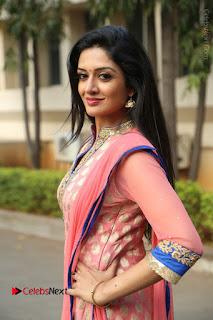 Actress Vimala Raman Stills in Beautiful Pink Salwar Kameez at (ONV) Om Namo Venkatesaya Press Meet  0093.JPG