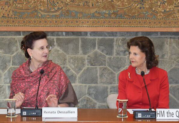 Queen Silvia visited the All India Institute of Medical Science, AIIMS, for a discussion on elderly care and dementia in India