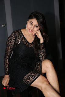 Actress Hamida Leatest Pictures in Black Lace Dress  0091