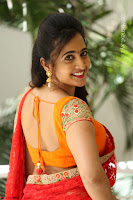 Lasya Cute Beauty in Saree Backless Choli at her Interview ~  Exclusive 064.JPG