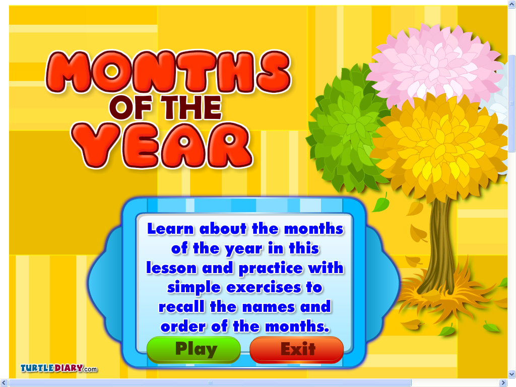 English With Eve Months Of The Year Amp Seasons Game
