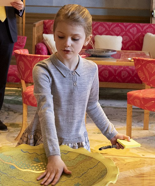 Crown Princess Victoria, her children Princess Estelle and Prince Oscar visited The Royal Collections