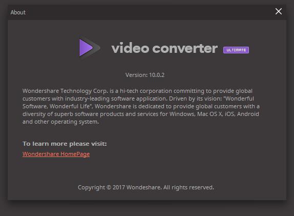 Wondershare Video Converter Ultimate 10 Crack Serial Key