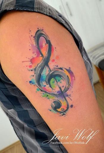 Aquarela Música Tatuagem