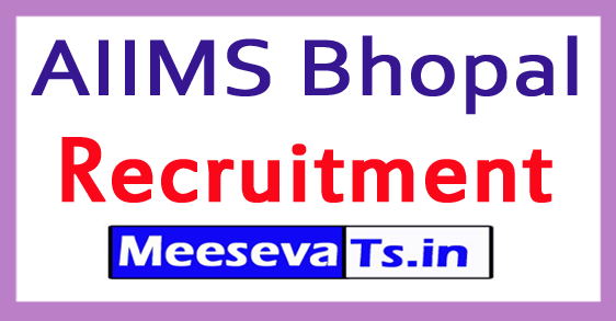 All India Institute of Medical Sciences AIIMS Bhopal Recruitment
