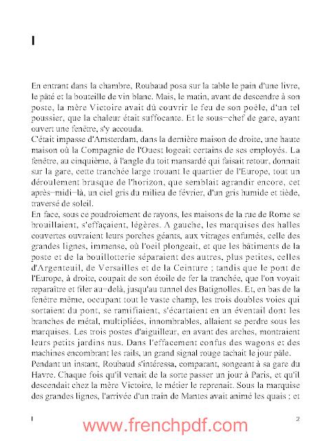 La bête Humaine en pdf d'Emile Zola gratuitement + Le résumé