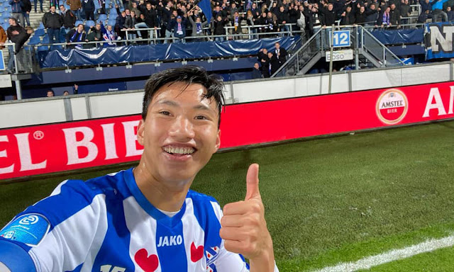 Văn Hậu có trận đấu ra mắt ở SC Heerenveen.