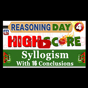 Syllogism With 16 Conclusions | Day 4 | Reasoning | Latest Tricks
