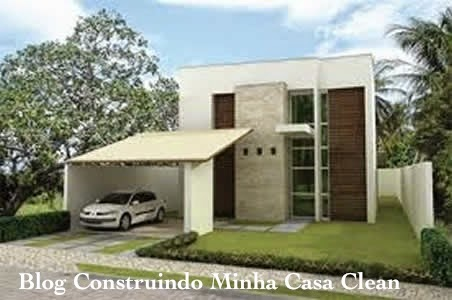 Construindo minha casa clean fachadas de casas t rreas for Foto contemporanea de jardin