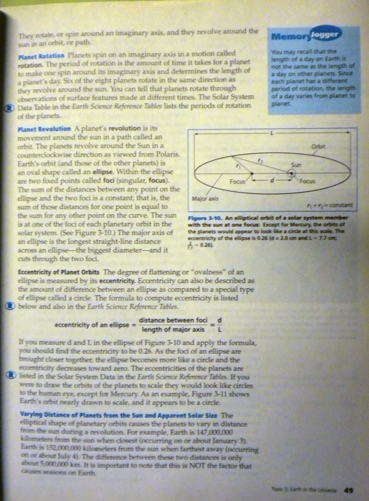 Earth Science Reference Topic3 Astronomy Questions 1 29