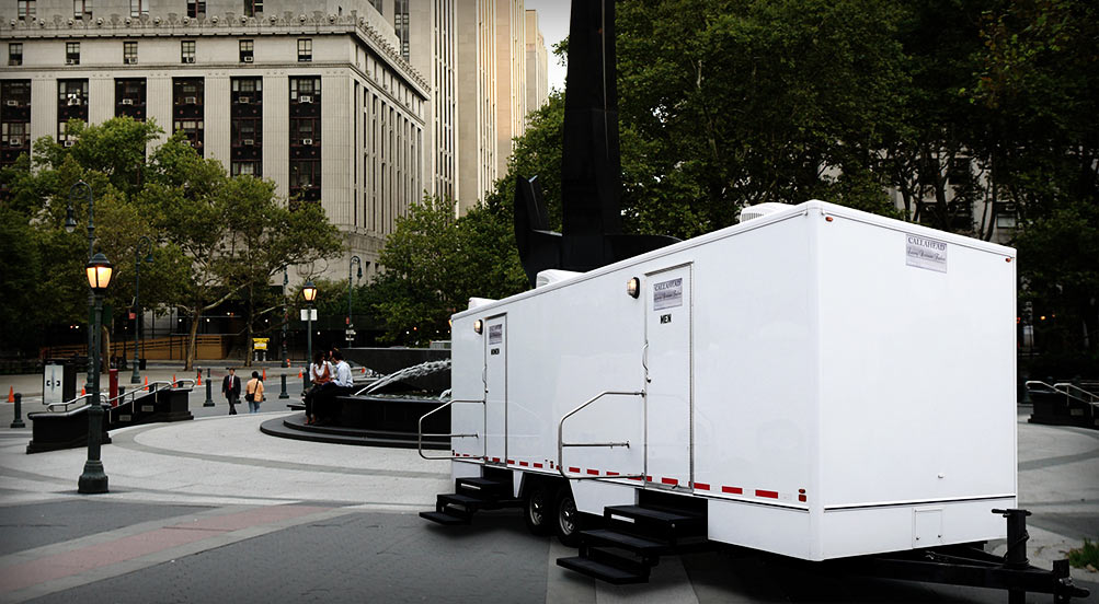Portable toilets new york ny westchester long island for Bathroom trailer rental