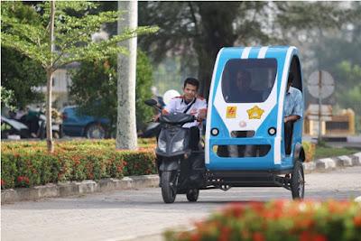Keren! Mahasiswa Aceh Bikin Becak Listrik, Bisa Meluncur 40 Km/Jam