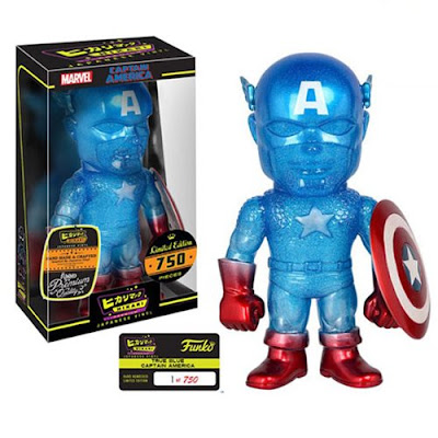 "Marvel ""True Blue"" Captain America Premium Hikari Sofubi Vinyl Figure by Funko"