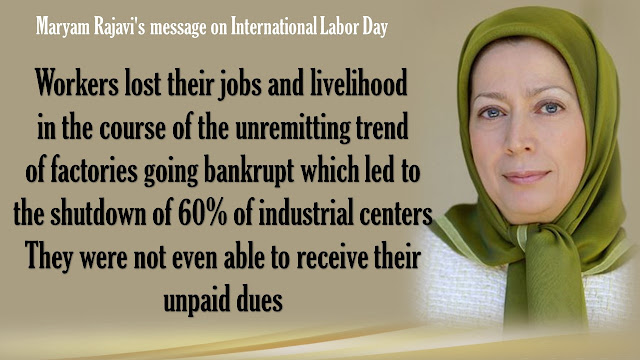 Maryam Rajavi's message on #internationallaborday 30 April 2016-Iran