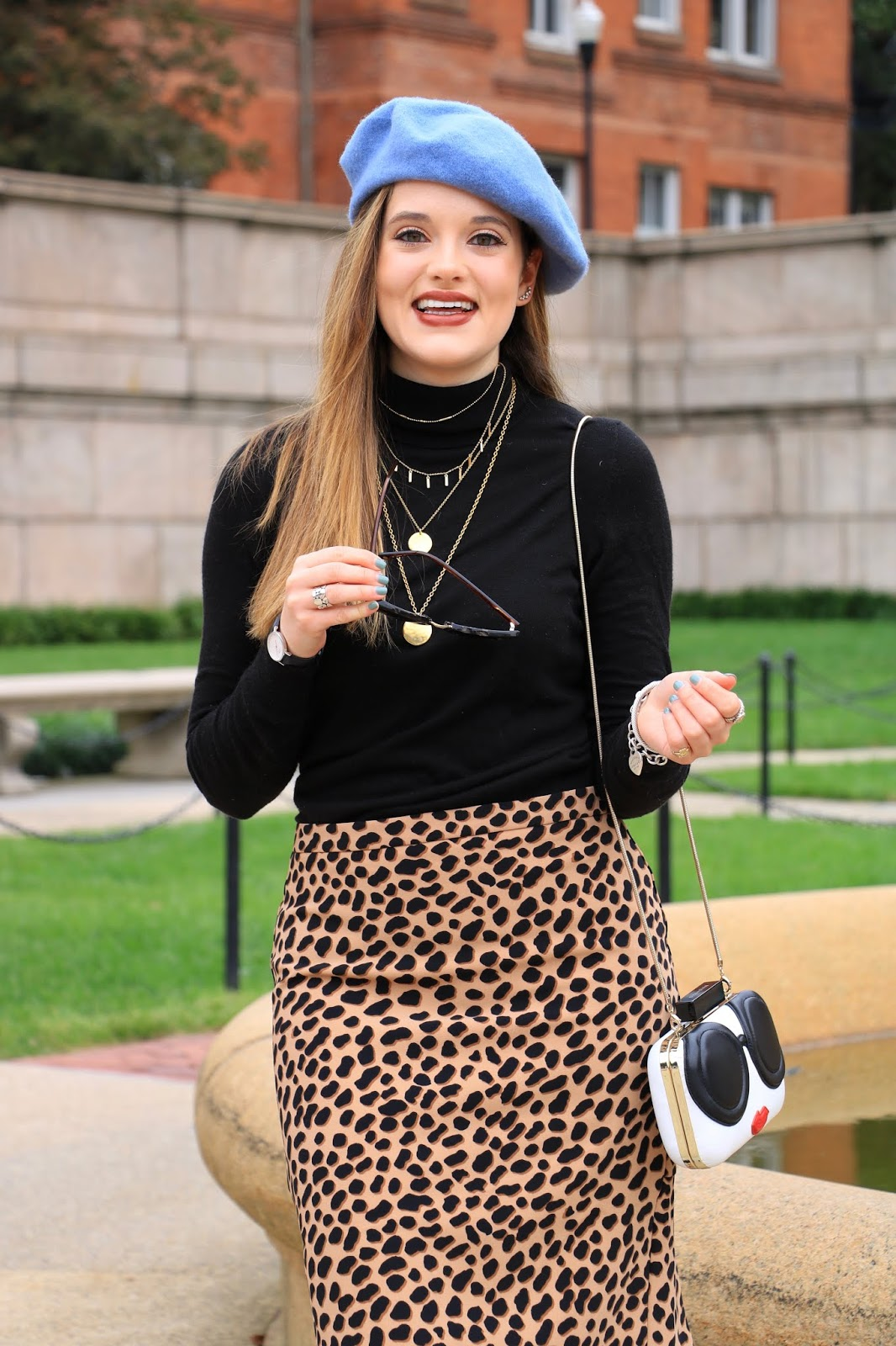 Nyc fashion blogger Kathleen Harper wearing leopard print