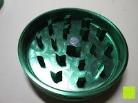 Mahlwerk: DCOU tabak schleifer Alu tobacco grinder tabak spice herb pollen anlage gras mühle 4 schichten aluminium crusher - Ø55mm H48mm grün