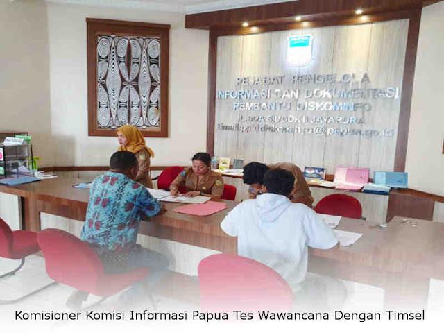 Komisioner Komisi Informasi Papua Tes Wawancana Dengan Tim Seleksi